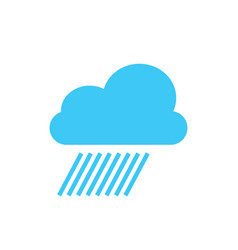 cloud rain storm weather minimalistic flat line vector image