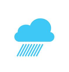cloud rain storm weather minimalistic flat line vector image