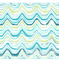 Colorful stripes seamless wavy pattern vector image