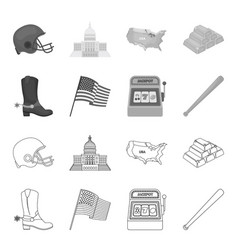 cowboy boots national flag slot machine vector image