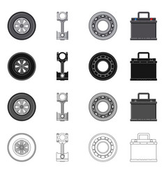 design of auto and part sign collection of vector image