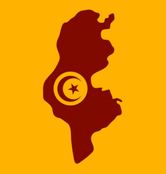 detailed of tunisia map vector image