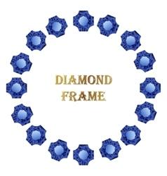 Diamonds round frame vector