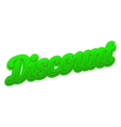 Discount comics icon vector