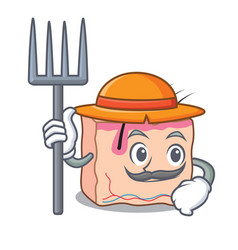Farmer skin character cartoon style vector