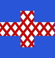 Flag of cholet in maine-et-loire of pays de la vector
