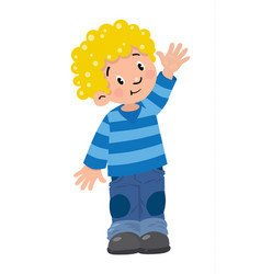 funny little boy vector image