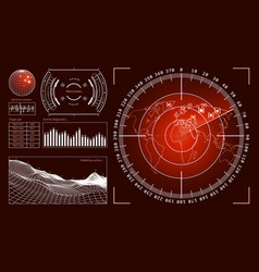 futuristic user interface hud tech elements vector image