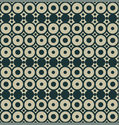 geometric seamless pattern with circles trendy vector image