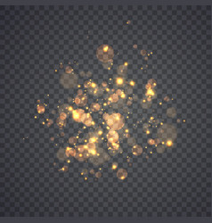 golden glowing lights effects vector image