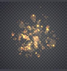 Golden glowing lights effects vector