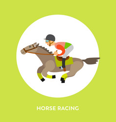 horse racing rider equestrian kind sport vector image
