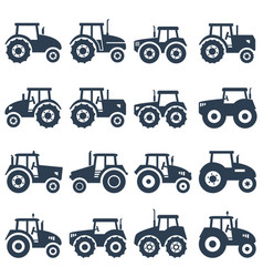 Icons of a tractor vector