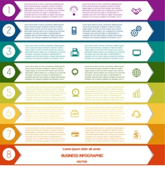 Infographic Colourful arrows template from white vector
