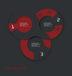 infographic round design vector image