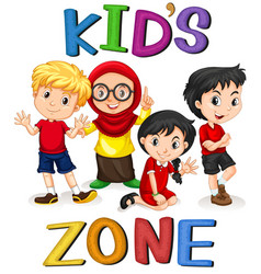 international kids character banner vector image