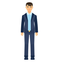 isolated icon character businessman vector image