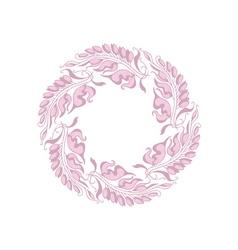 Light rose color Art Nouveau style vector