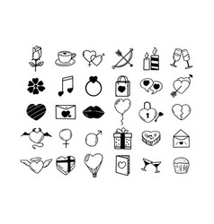 Love icon hand drawn on white background vector
