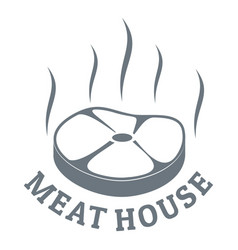meat house eco logo simple style vector image