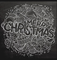 merry christmas doodles new year vector image