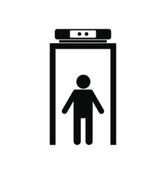 Metal detector black simple icon vector
