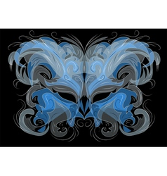 ornate masks vector image