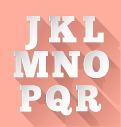 Paper alphabet J-R vector image
