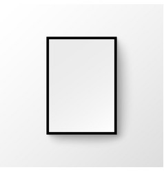 picture frame wall image blank wood painting vector image
