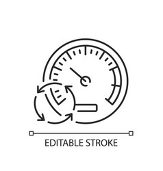 Pressure gauge linear icon vector
