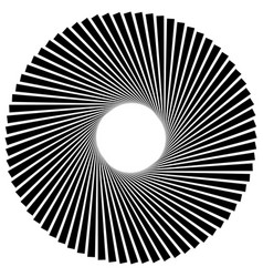 Radiating radial lines with spiral vortex effect vector