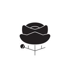 ranunculus black concept icon ranunculus vector image