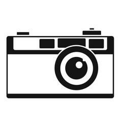 retro camera icon simple style vector image