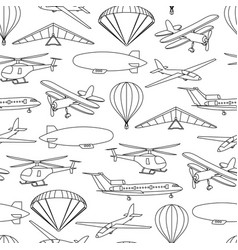 retro seamless travel pattern of balloons and vector image
