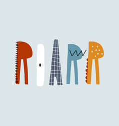 Roar cartoon lettering perfectly look on t-shirt vector