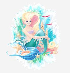 sea cartoon composition vector image