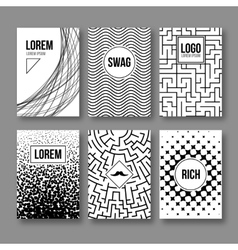 Set of Vintage creative cards Hipster textures vector image