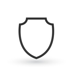 Shield icon in trendy flat style design shield vector