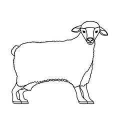 Silhouette cartoon funny of sheep posing vector