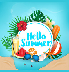summer background 2018 2 vector image