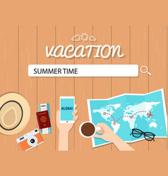 summer time search graphic for vacation vector image