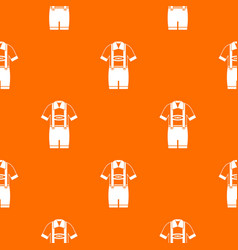 t-shirt and pants with suspenders pattern seamless vector image
