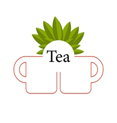 Tea isolated vector