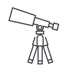 telescopescope line icon sign vector image