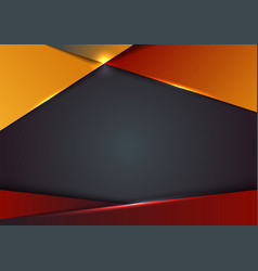 template design abstract red and yellow gradient vector image