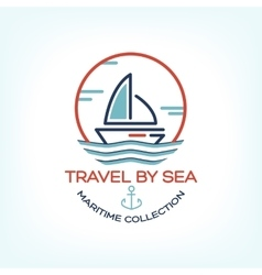 Travel by sea Maritime collection vector image