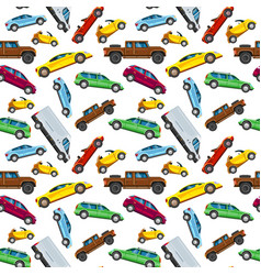 urban transport pattern transportation in city vector image