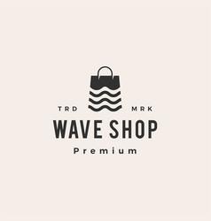 wave shop hipster vintage logo icon vector image