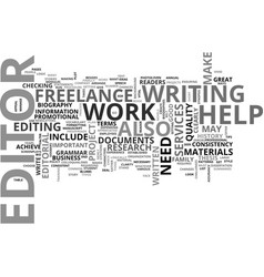 why do you need a freelance editor and editorial vector image