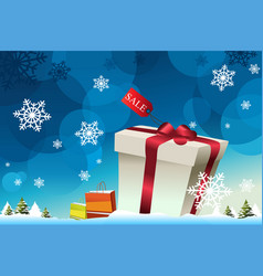 winter shopping background vector image